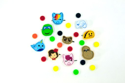anime-hair-clips-by-linkster-love | cute barrettes at Pop Shop America online boutique handmade goods crafts