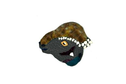 ankylosaurus-handmade-dino-brooch-1   Ankylosaurus Dinosaur Brooch in Leather
