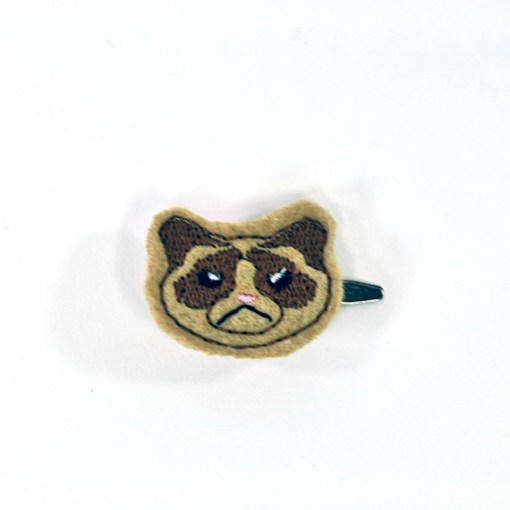 grumpy cat barrette | Cat Crafts at Pop Shop America online fashion website | Shop Handmade in Texas and Handmade in the USA Goods