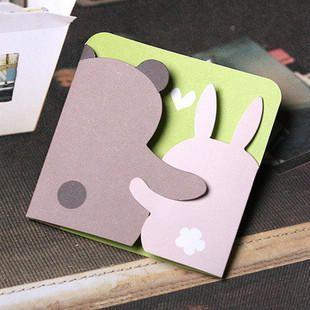 Bear and bunny printable greeting card handmade greeting card bear and bunny greeting card pop shop america m4hsunfo