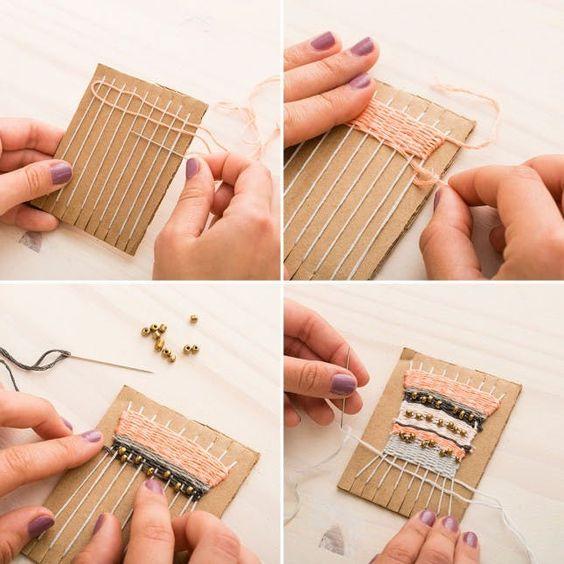 mini loom and mini weave diy