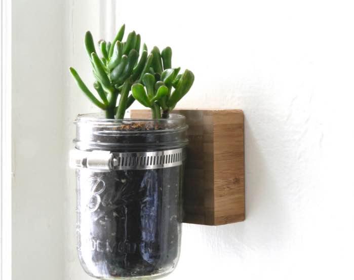 wall mounted mason jar planter_Fotor