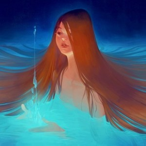 Lois Van Baarle Girl in Water Digital Illustration | Photoshop Art Computer Art