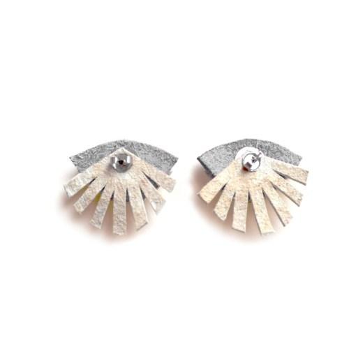 Neon Eye Ear Jacket Earring Seeing Eye Geometric Earrings Illuminati Jewelry Hot Pink and Gold Earrings