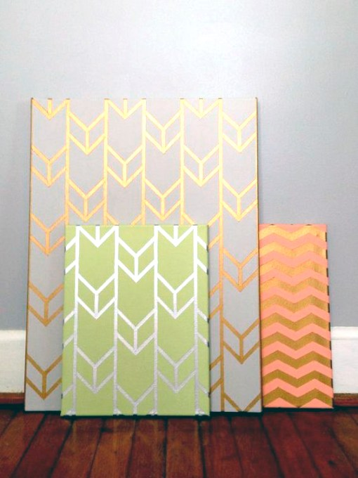 chevron paintings art classes houston