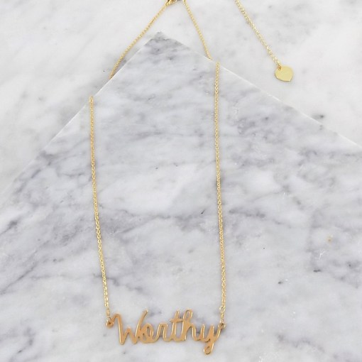 worthy necklace handmade gold jewelry Brenda Grands