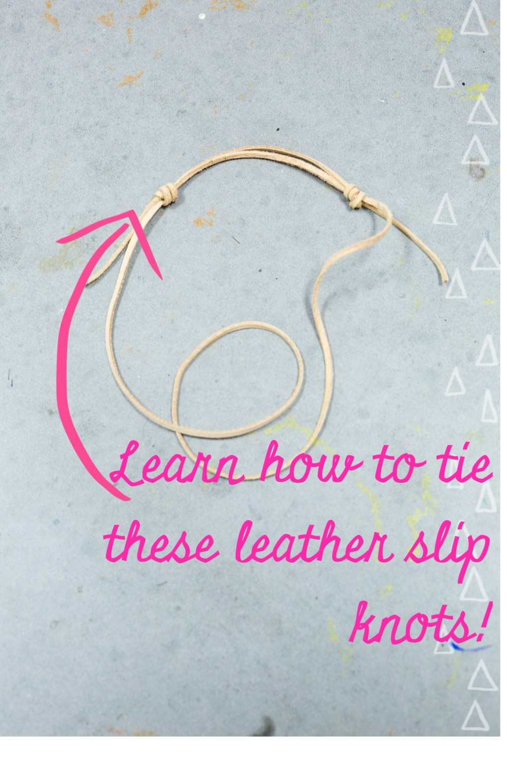 learn to tie leather slip knots