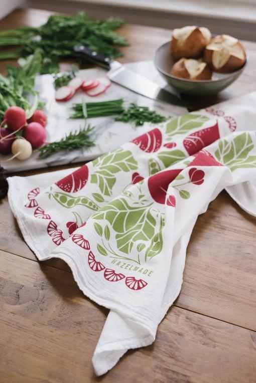 beets and peas tea towel by hazelmade
