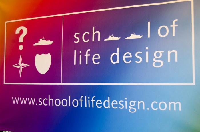 School of Life Design Tie Dye Banner