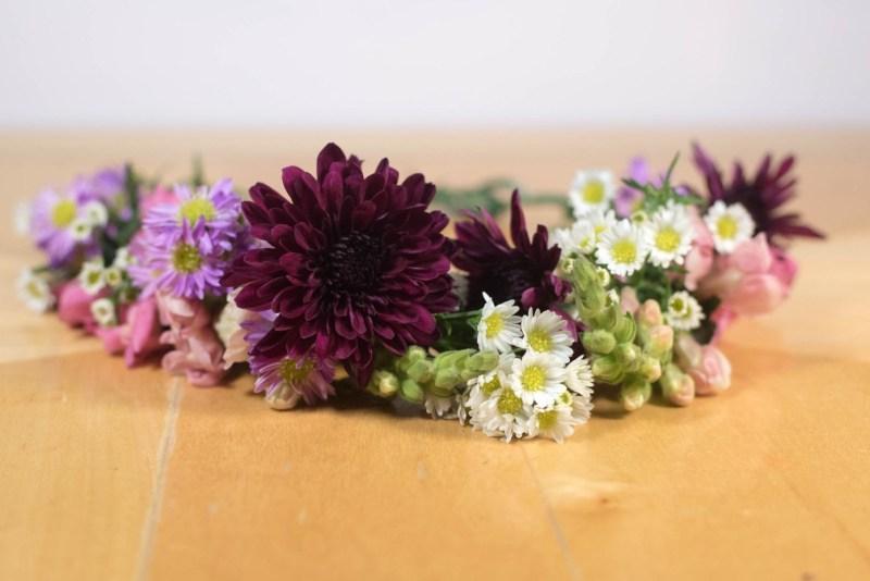 flower crown boho diy fall colors