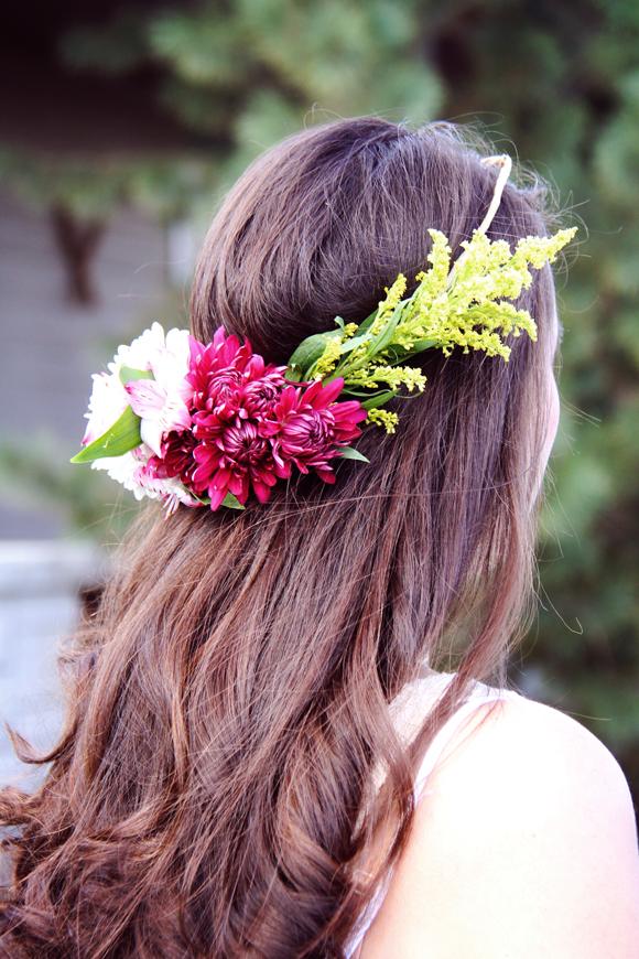 half moon flower crown diy pop shop america