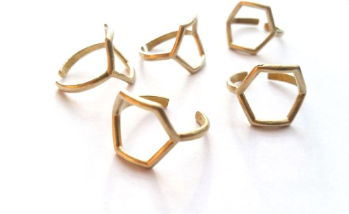 lots-of-brass-hexagon-rings-handmade-rings-style-photo