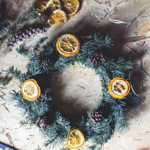 DIY Natural Christmas wreath result