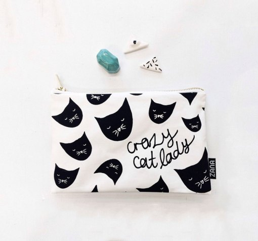 crazy cat lady clutch styled photo