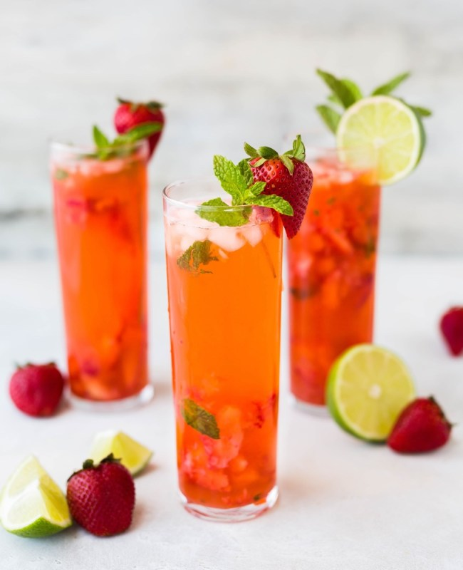 strawberry mojito cocktail recipe by pop shop america blog