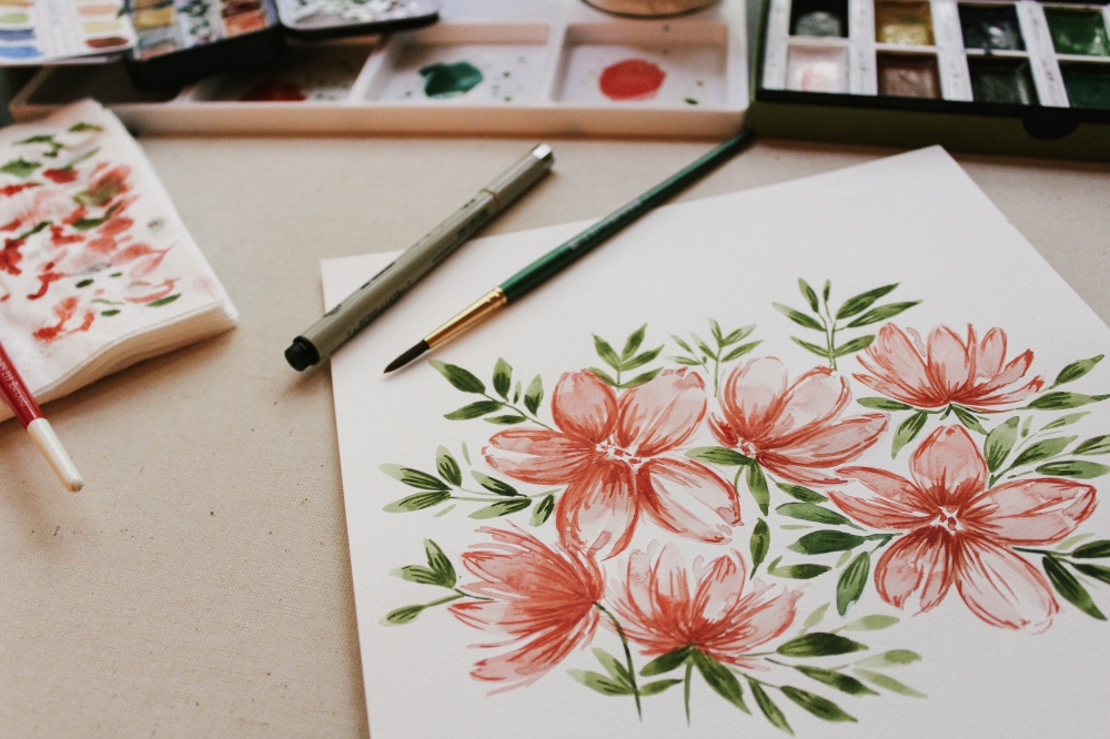 watercolor basics craft class by pop shop america