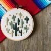 cactus desert embroidery art handmade art shopping