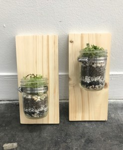 finished set of wall mounted mason jar planters pop shop america diy