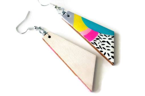 side view of the max earrings - handmade jewelry