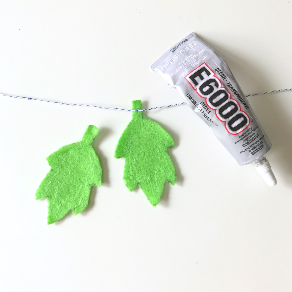 how to attach the simple leaf garland craft tutorial pop shop america