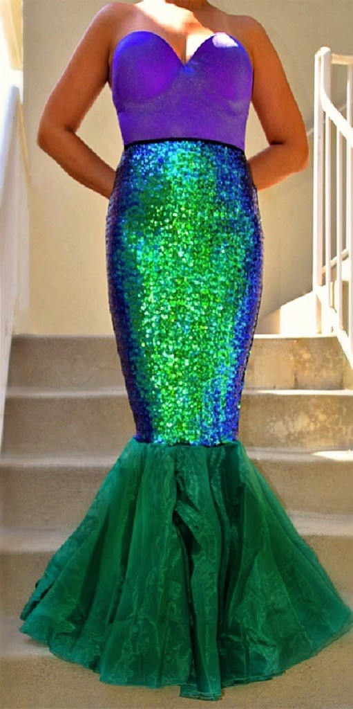 mermaid tail halloween cosplay costume