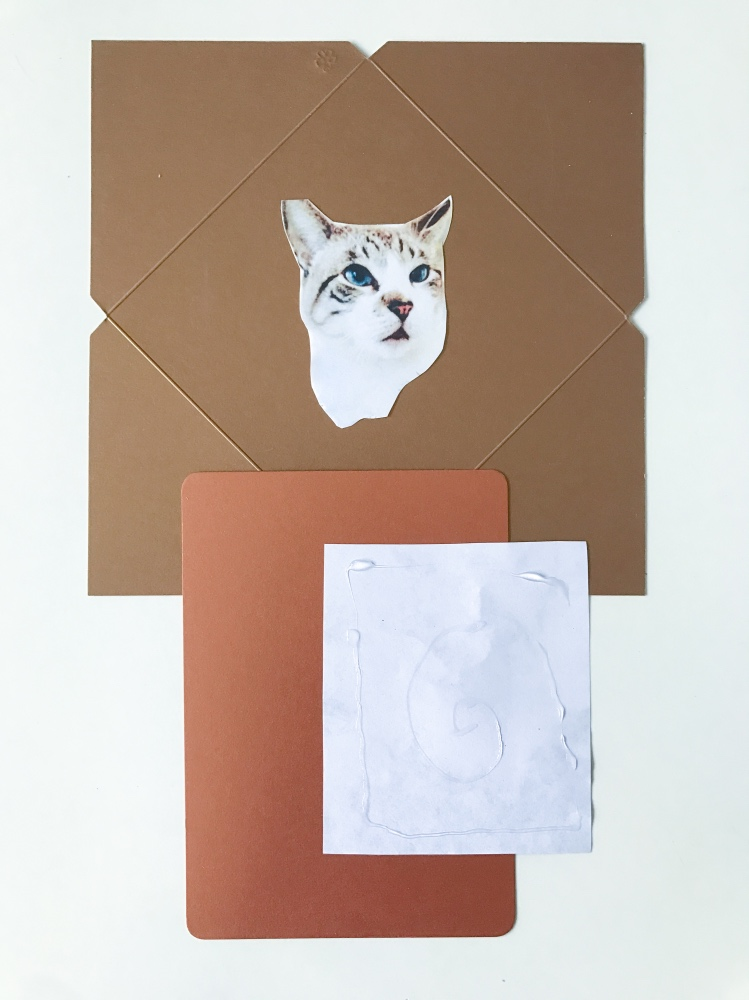 #shop glue the back to make halloween themed cat cards pop shop america