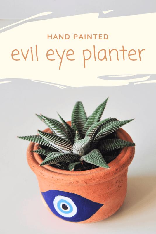 hand painted evil eye planter diy pop shop america