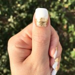 Diy Gold Leaf Manicure For Grown Out Shellac