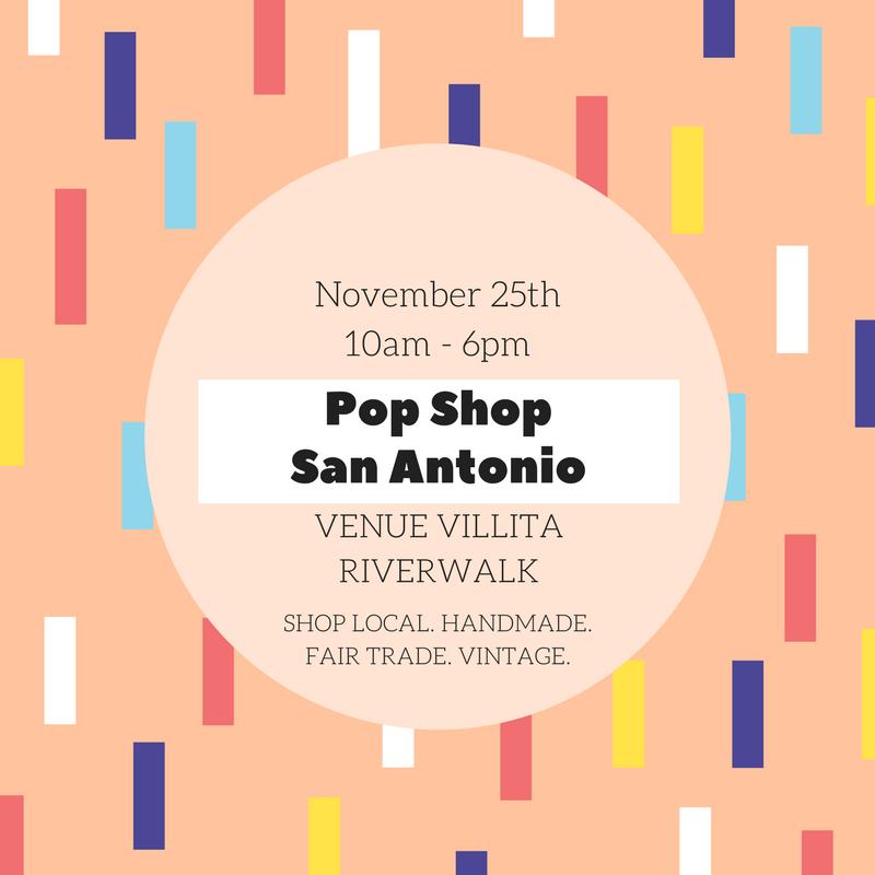 Pop Shop San Antonio square invitation
