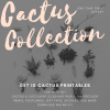 cactus collection by pop shop america printables