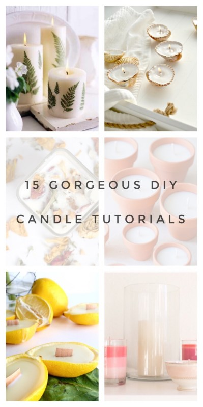 15 gorgeous candle tutorials pop shop america