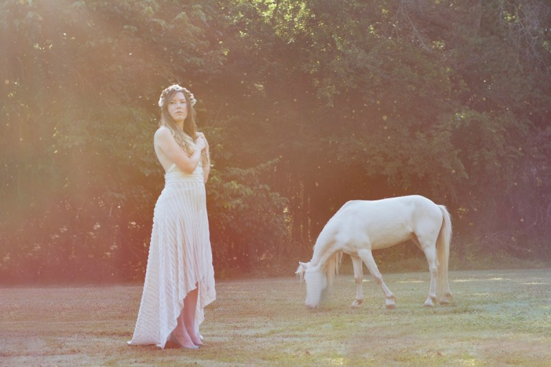 brittany with sun and unicorn photograph