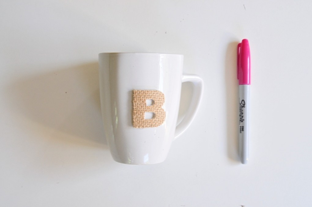 diy coffee mug monogram with sharpie pop shop america