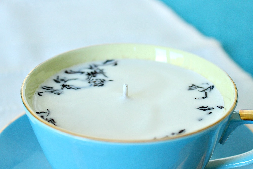 diy earl gray teacup candle