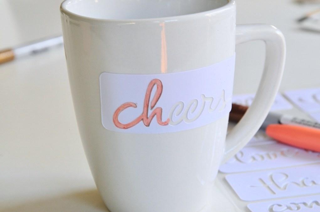 stencil coffee mug diy pop shop america