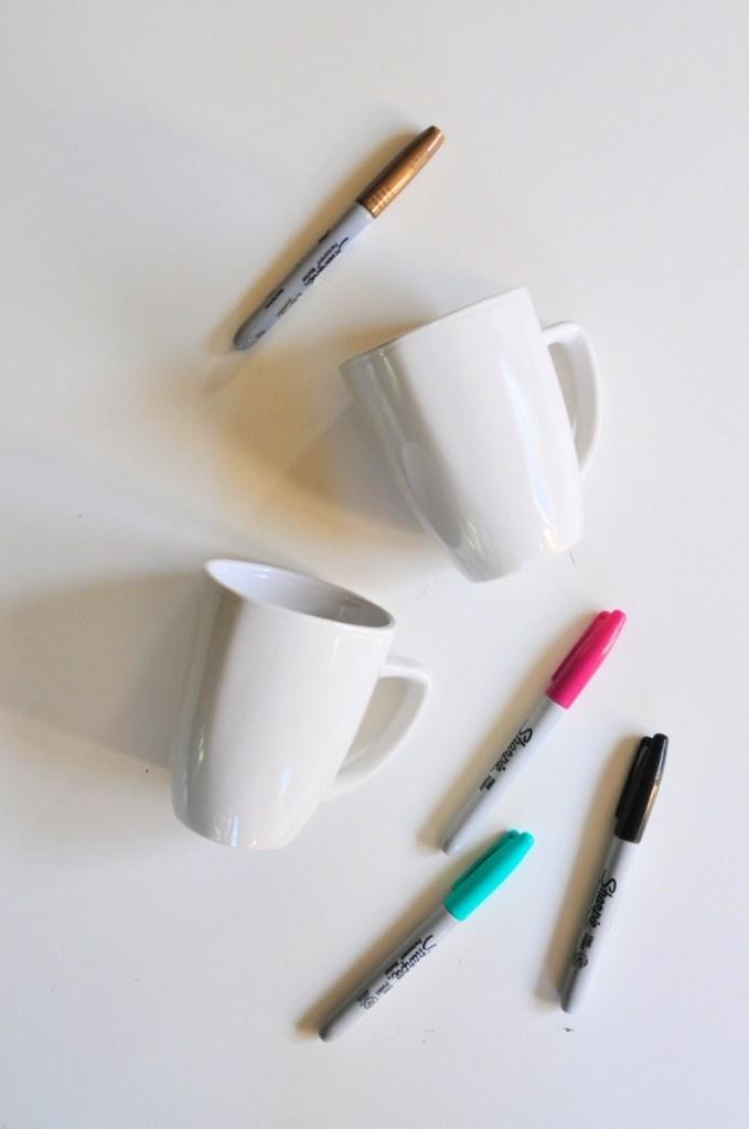 supplies to make sharpie coffee mugs pop shop america