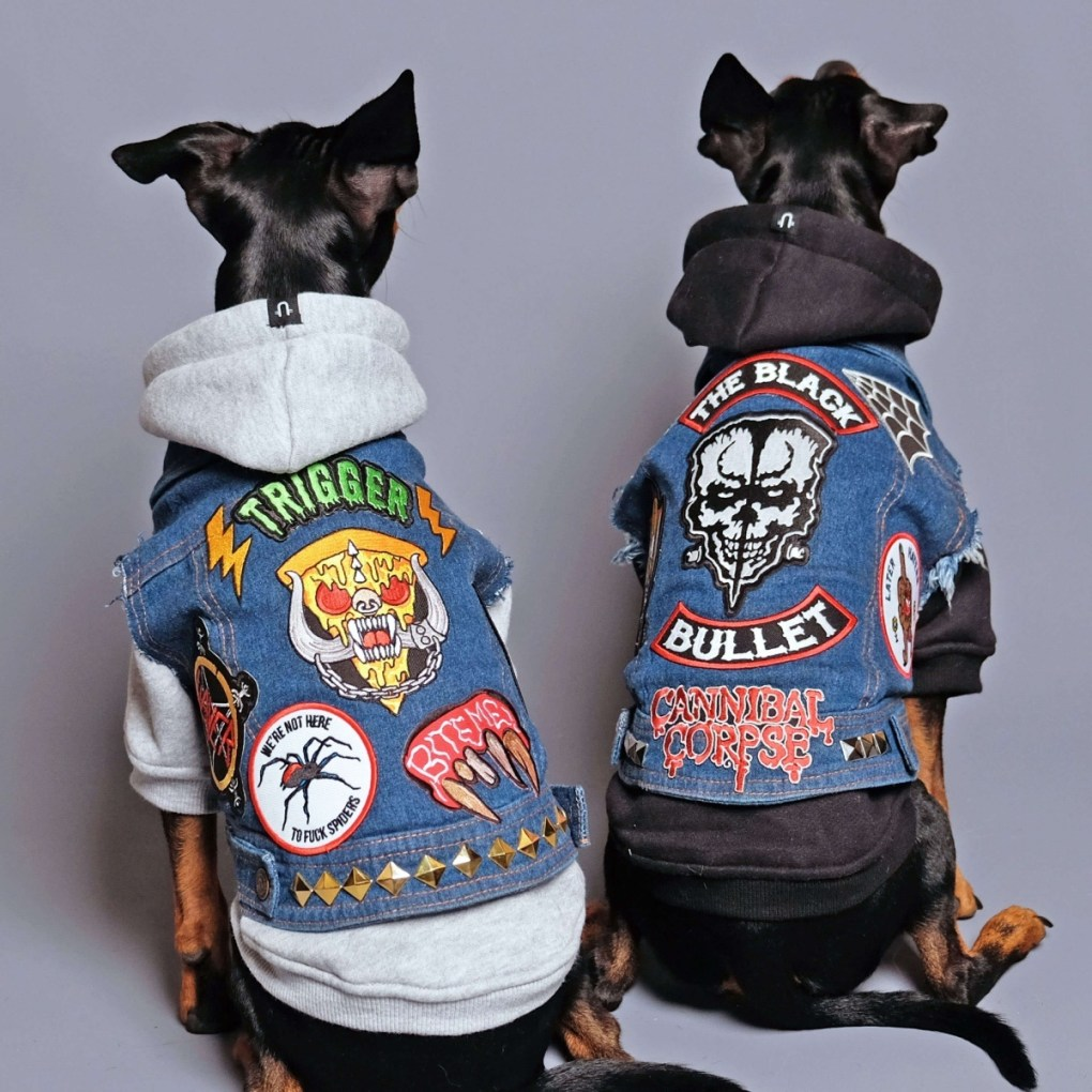 denim dog vests by pethaus dog clothes pop shop america