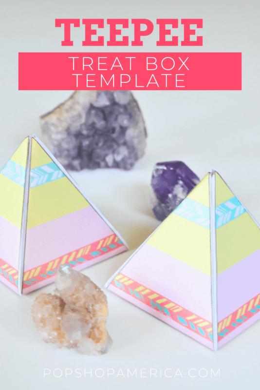 Teepee Pyramid Treat Box Template