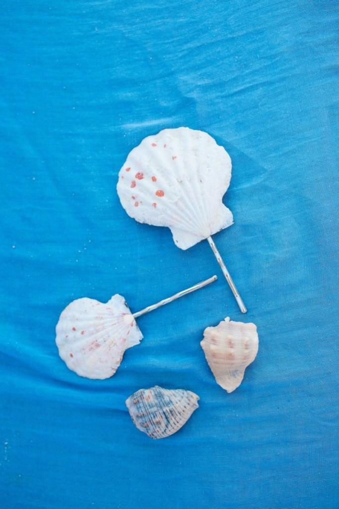 finished handmade seashell hair barrettes pop shop america