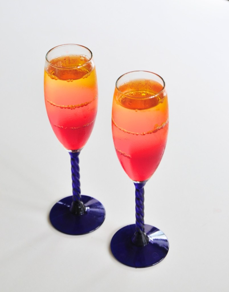 ombre sunset jello cups recipe feature