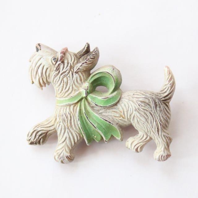 Celluloid Dog Brooch