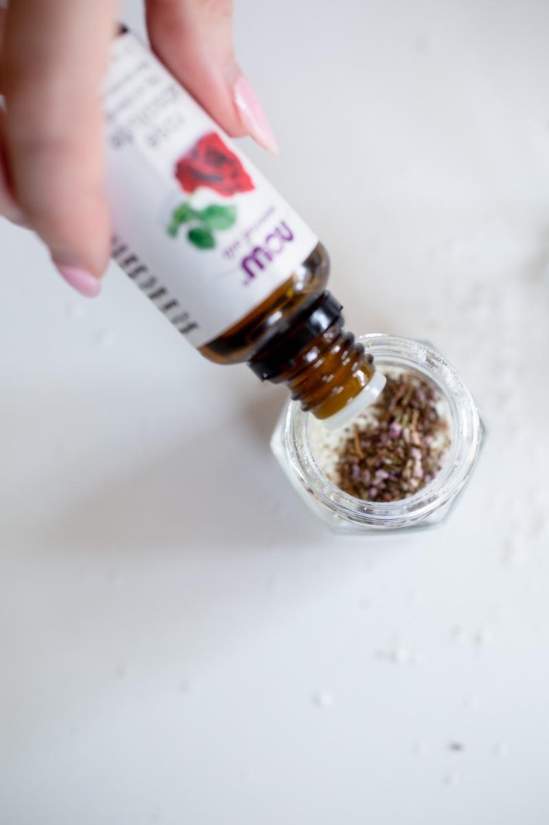 add rose essential oil diy bath soak pop shop america