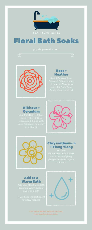 pinterest floral bath soak recipes pop shop america