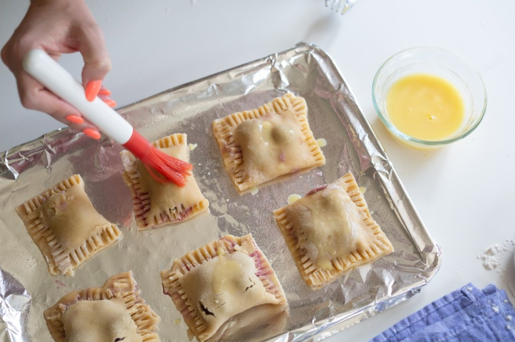 using an egg wash on cherry hand pies pop shop america