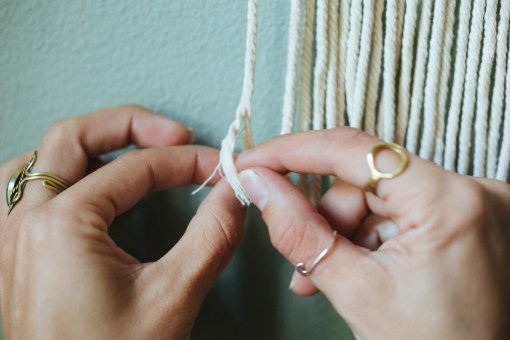 how to unravel the ends of macrame pop shop america fall wreath diy