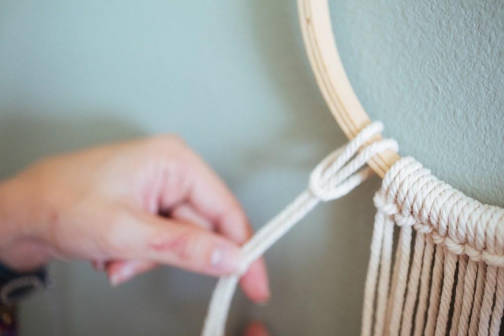 macrame simple loop minimalist wall hanging pop shop america