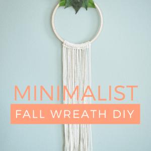 minimalist fall wreath diy pop shop america