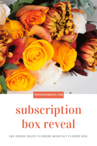 see inside the enjoy flowers monthly sub box reveal