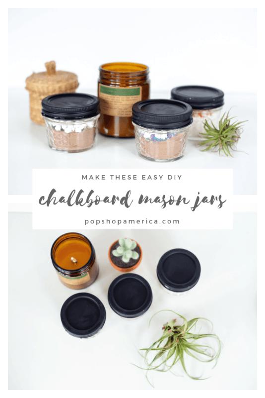 easy diy chalkboard painted mason jars