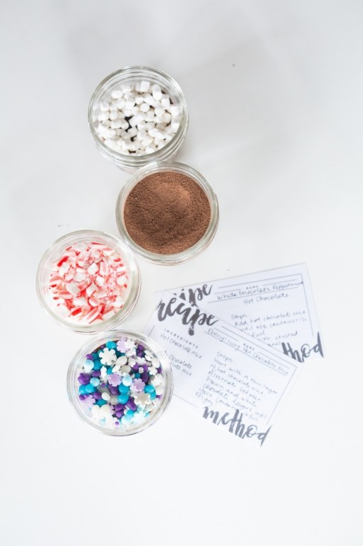 hot chocolate mixes with recipe cards craft in style november